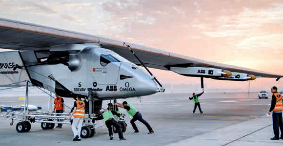 Solar Impulse 2 is equipped with four brushless, sensorless motors mounted below the wings.
