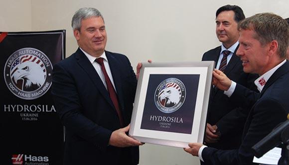 Hydrosila Ukraine celebrates 100th Haas machine tool