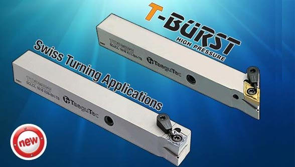 TaeguTec New T-Burst Holder for Swiss Turning Applications