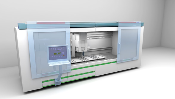 ROLLON for industrial machines: Automatically opening machine enclosures