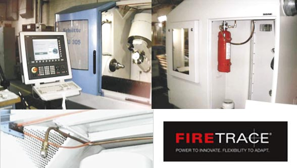 Firetrace system suppresses grinding machine fire