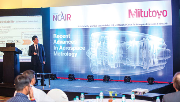 "Mitutoyo jointly organizes a seminar on  ""The recent advances in Aerospace Metrology"""