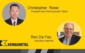 Kennametal Board Names Christopher Rossi Chief Executive Officer, De Feo Appointed Executive Chairman