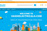 Vashi Electricals, has launched an Industrial Electrical online store an eCommerce portal