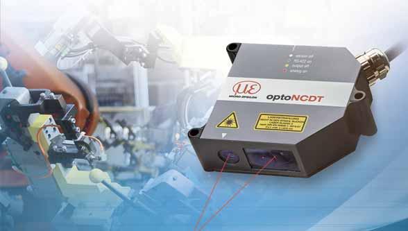 Laser triangulation sensor sets new performance standards in industrial displacement & distance measurements