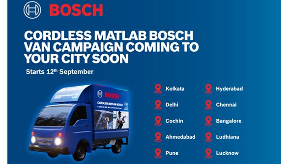 Bosch Power Tools India launches Experiential Mobile Vans to Unveil the Power of Cordless