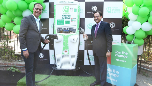 MG (Morris Garages) Motor India and Fortum Charge & Drive India unveil network of fast-charging stations