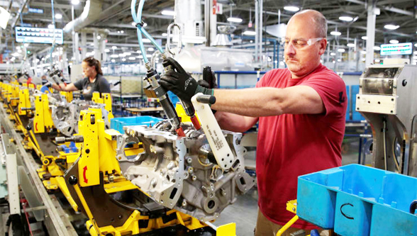 US manufacturing production hikes more than expected in November
