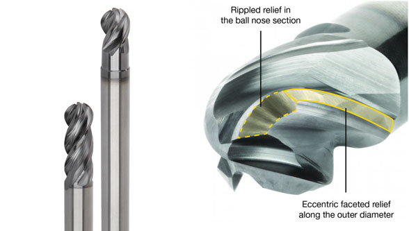 Kennametal introduces the HARVI I TE four-flute ball nose end mill