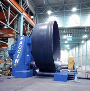Faccin plate Roll for monopile production