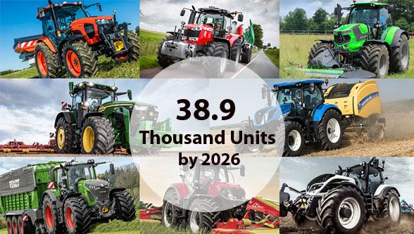 Global Autonomous Tractors Market to Reach 38.9 Thousand Units by 2026